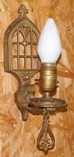 Vintage 1920's 1930's Arts & Crafts Wall Sconce Gothic Wall Sconce Bronze Brass