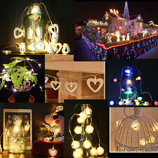 10-100led Battery Powered Fairy String Lights Christmas Lights Home Garden Party