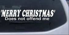 Merry Christmas Does Not Offend Me Car Truck Window Laptop Decal Sticker 12X2.4