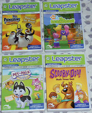 LEAP FROG LEAPSTER  LEARNING GAMES NEW Lot of (4)