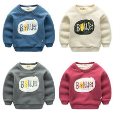NEW Baby Boys letter Long Sleeve Outerwear Winter Pullover Sweater Jacket Coat