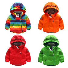 Kids Baby Boys outerwear Inclined zipper Hooded coat Boys warm Jacket Clothing