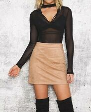 New Womens Sexy See Through Long Sleeve V-Neck Jumpsuit Playsuit Bodysuit