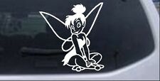 Tinkerbell sitting Car or Truck Window Laptop Decal Sticker 5.8X6.2