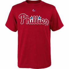 Philadelphia Phillies Majestic Youth Official Wordmark T-Shirt - Red - MLB