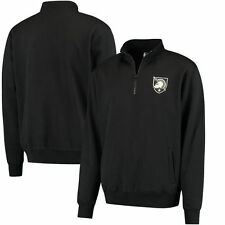Army Black Knights Stadium Athletic Logo Quarter-Zip Sweatshirt - Black - NCAA