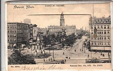 Detroit MICHIGAN Vintage Postcard + 12 Views in Middle 1906