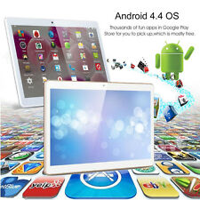 10.1'' INCH Tablet PC HD Dual SIM Smartphone Android4.4 3G GPS WIFI 16GB Phablet