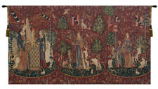 Lady and the Unicorn Series Belgian Medieval Woven Tapestry Wall Hanging Art