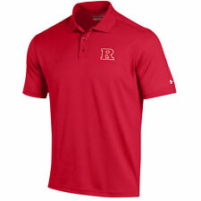 Rutgers Scarlet Knights Under Armour Solid Performance Polo - Scarlet - NCAA