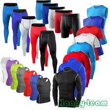 Mens Compression Shirts Pants Vest Tights Under Thermal Armour Skins Base Layers