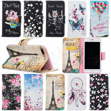 Tower Wallet Patterned PU Leather Stand Case Cover For iPhone Huawei Samsung NEW