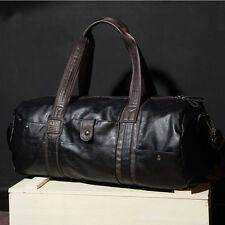 "Men's 20"" Leather Sport Travel Carry-On Duffel Overnight Weekend Bag Style"