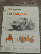 TIMBERJACK 240 D Skidder specification brochure. Very cool   (fl1)
