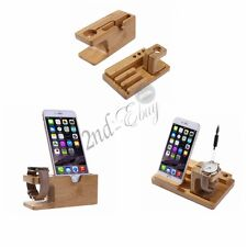 For Apple Watch iWatch iPhone 7 Charging Docking Station Wooden Stand Holder