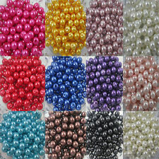 Wholesale Glass Pearl Round Spacer Loose Beads 4mm/6mm/8mm Jewelry Making
