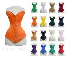 26 Double Steel Boned Waist Train COTTON Overbust Wider Hips Shaper Corset 8137C