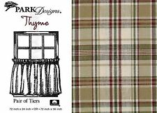 Thyme Tiers by Park Designs, Cool Tone Country Plaid, Pick 72x24 or 72x36 Pair