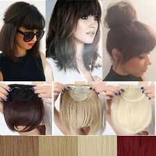 Gorgeous Natural Clip on Front Neat Bang Fringe Hair Extensions Any Colors lhp
