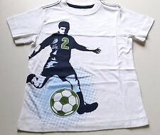 Boys CRAZY 8 white soccer t shirt NWT 4 5 6 player practice embroidered applique