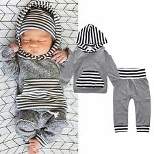 2PCS Cotton Kids Baby Toddler Boy Clothes Set hooded Tops+Pants Leggings Outfits