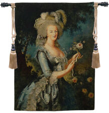 Marie Antoinette Portrait Belgian Famous Royalty Woven Tapestry Wall Hanging