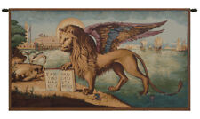 Lion Arrives in Venice Italian Symbolic Woven Tapestry Wall Hanging NEW