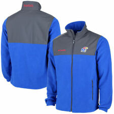 Kansas Jayhawks Columbia Fast Tech Overlay Fleece - Royal Blue - NCAA