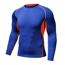 Mens Compression Base Layer Under Skins Top Tights Long Sleeves Sports T Shirts