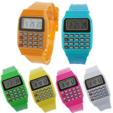 Unsex Kids Silicone Multi-Function Date Time Electronic Wrist Calculator Watch