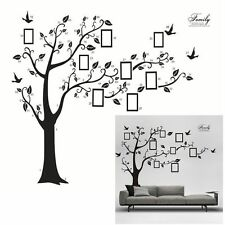 Family Decals Adhesive Photo Bird Tree Mural 3D Wall Stickers Home Decor
