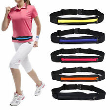 Running Waist Pack Double-Pockets Unisex Jogging Cycling Waist Belt Bag Pouch