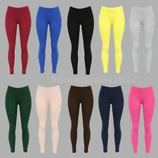 Womens Grils New Leggings Solid Seamless Skinny  Stretchy Footless Pants G2C1