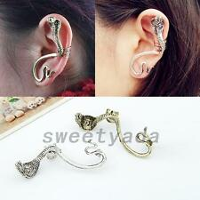Punk Fashion Horrible Cobra Snake Gothic Stud Earrings Ear Cuff Clip Jewelry