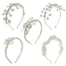 Ladies Bridal Crystal Floral Pearl Hairband Tiara Headband Wedding Headpiece