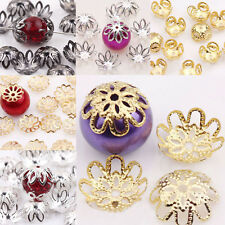 Wholesale Charm Gold /Silver/Copper Plated Flower Bead Caps Jewelry Findings DIY