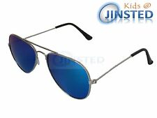 Childrens Mirrored Blue Aviator Sunglasses Sunnies Reflective Shades UV400 KA003