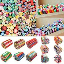 3D DIY Cute Rods Fimo Canes Mixed Styles  Polymer Clay Nail Art Stickers