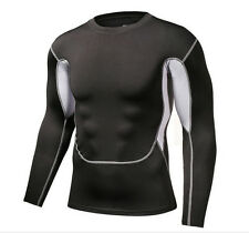 Mens Base Layer Compression Under Skins Top Tights Sports Running T Shirts Good