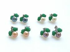 genuine natural cultured freshwater pearl earring stud cherry earring USA BY EUB