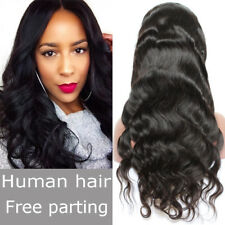 100% Brazilian Virgin Human Hair Silky Straight Lace Front Wig With Baby Hair HG