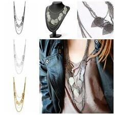 Chic Women  Long Pendant Multi-layer Leaf Necklace Jewelry Sweater Chain