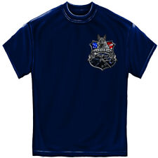 Elite Breed Police Force To Serve And Protect Silver Foil T-Shirt