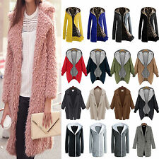 Fashion Women Winter Warm Wool Jacket Overcoat Long Trench Coat Parka Outwear