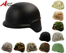 Airsoft Tactical M88 PASGT Kelver Swat Helmet Black with Helmet Cover 9 Colors