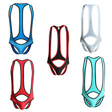 Mens Open Butt Briefs Jockstrap Mankini Gay Bodysuit Underwear Wrestling Singlet