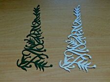 CHRISTMAS Tree card Die Cuts   x 8 ~  Dee'sDistinctively design card toppers