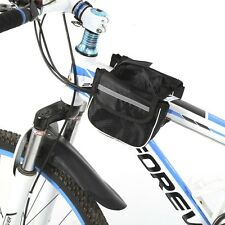 Bike Handlebar Bag Bicycle Pannier Frame Tube Cycling Pouch Front Basket New