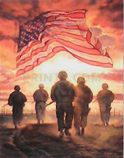 Bonnie Mohr Bless America's Heroes Giclee on Paper