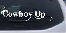 Cowboy Up With Hat Car or Truck Window Laptop Decal Sticker 8X2.3